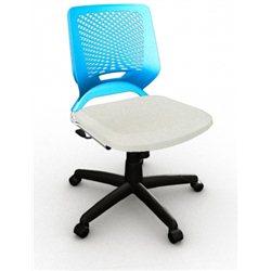 Cadeira Tn Giratória Azul cr Sem Braço